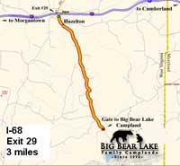 Map to big Bear Lake Camplands